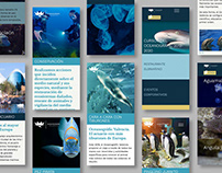 Oceanogràfic de Valencia - Web design