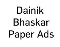 Dainik Bhaskar Full page paper ads