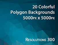 20 Colorful Polygon Backgrounds