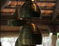 Oxidised Brass Dokra Lights