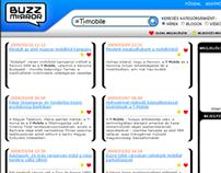 product concept, UI ◆ BuzzMirror social media monitor