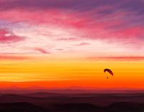 Sunset Paraglider