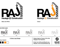 RAJ Haulage and Construction Logo Design