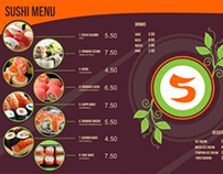 Sushi Menu, Loyalty Card and Table Tent Template