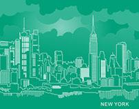 [Free] NYC Skyline Folder, Business Card, Postcard