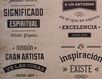 Panel de mixturas tipográficas