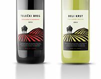 Telecki breg & Beli krst wine labels