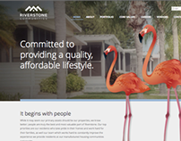 Riverstone Communities Re-brand & Website Design