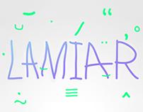 LAMIAR — font
