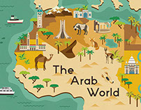 Illustrative Map of The Arab World