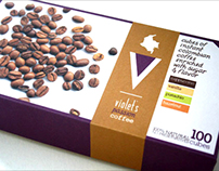 Violet's Passion Coffee Packaging