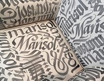 Calligraphic furniture