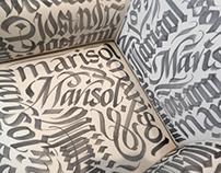 Calligraphic furniture