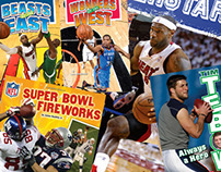 SPORTS—NFL & NBA Covers & Interiors