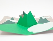 """Mountains"" Popup Card"