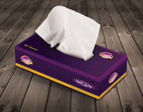 Candy tissues box purple