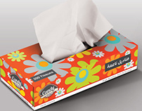 Candy Tissues Flowers Red Box