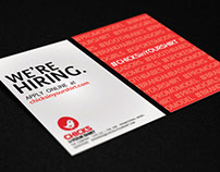 Flyers designed to recruit promotional models