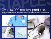 Staples Medical Product Catalog and Pop Up