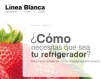 "Falabella ""Línea Blanca"" minisite"