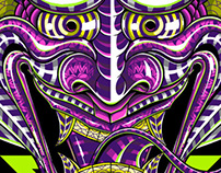 Psychedelic Hannya: Illustration