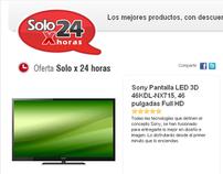 """Falabella """"Solox24"""" minisite"""
