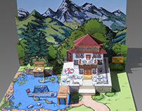 """Project Pop-up Card """"Zell am See"""""""