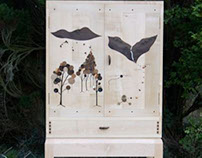 giant deer cabinet