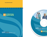CD cover and sticker for International Medical Centre
