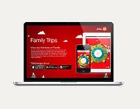 Family Trips - Landing page Web Design