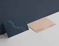 GAIA boutique hotel logo and business card design