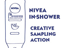 Creative sampling action / Nivea In Shower