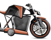 1P Electric Motorcycle Concept