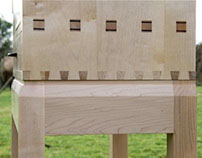 detail of giant deer cabinet