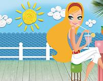 Freelance illustration project/ Unilever Elidor Shampoo