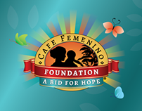Trade show print materials for Cafe Femenino Foundation