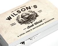 Wilson's Bookworld Business Cards