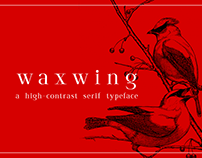 waxwing free display font