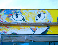 Miau shop mural paint