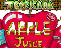 Tropicana Apple Juice Concept Labels