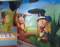 Goblings countryside mural