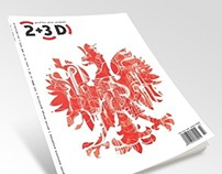 2+3D magazine cover