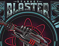 """Cover Art for Starkey """"Blaster"""" album"""