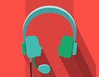 headphones music in my ears
