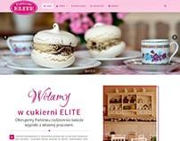 Projekt strony - elite-cukiernia.pl