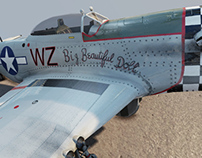 P51 Mustang Game ready model - Big Beautiful Doll