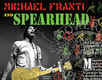 Michael Franti and Spearhead Magazine Spread