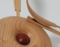 Bent Wood Spoon and Spun Drum