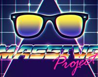 80s style: retrofuturism - sci fi - chrome - neon style