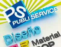 Publiservice billboard (3D modeling)